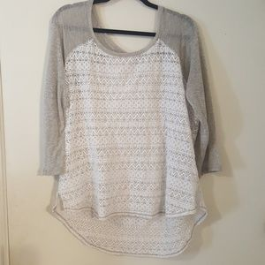 Maurices 3/4 sleeve top size 3